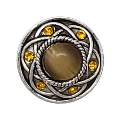 Entwined Amber and Taupe Treasure Snap