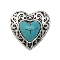 Turquoise Heart of the West Treasure Snap