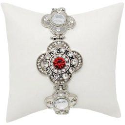 Silver Fleur Snap Bracelet