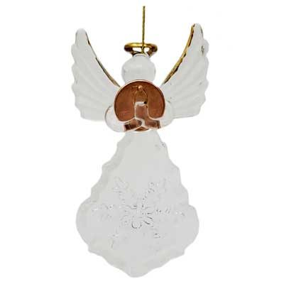 Light to the World Angel Hanging Ornament