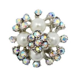 Pearly Crystal Cluster Treasure Snap