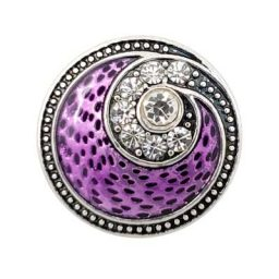 Mauve and Crystal Swirl Treasure Snap
