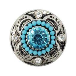 Beaded Turquoise Treasure Snap
