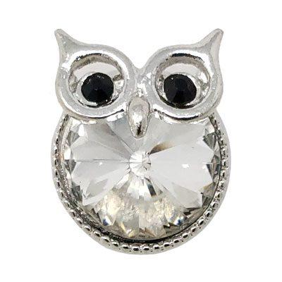 Clear Crystal Owl Treasure Snap