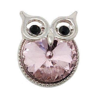 Pale Pink Crystal Owl Treasure Snap
