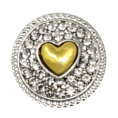 Crystal Surrounded Heart Treasure Snap
