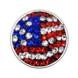 USA Flag Glitz Treasure Snap