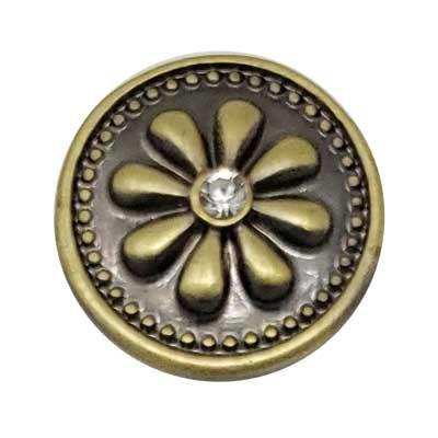 Flowery Jean Button Treasure Snap