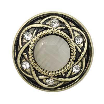Entwined Brass Treasure Snap - Light