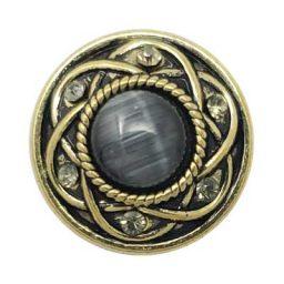 Entwined Brass Treasure Snap - Dark