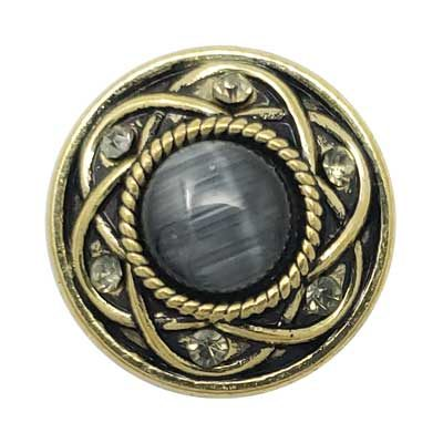 Entwined Brass Treasure Snap - Dark