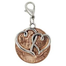 Entwined Hearts Penny Charm