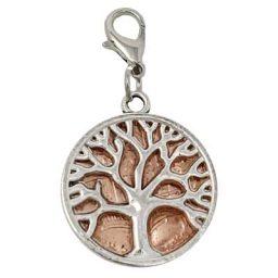 Tree of Life Silver-tone Penny Charm