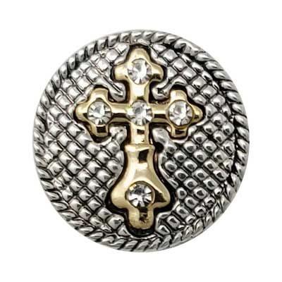 Crystal Gold Cross Treasure Snap
