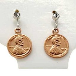 Copper Mini Penny Earrings