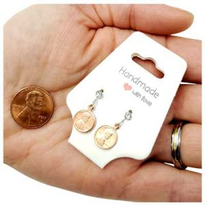 Mini Penny Earrings