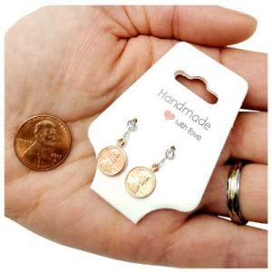 Mini Penny Earrings