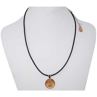 Penny Pendant Leather Necklace