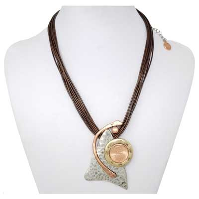 My Utmost - Copper / Silver-Tone Necklace