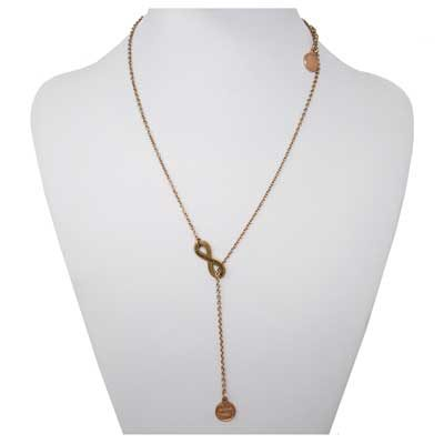 With God Mini Penny Rose Gold-Tone Infinity Necklace