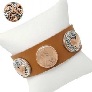 Copper-Tone Snap Jewelry