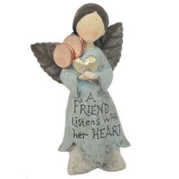 Rustic Friendship Heart Angel