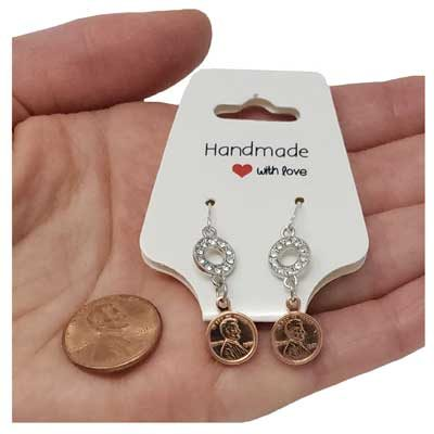 Crystal Mini Penny Earrings