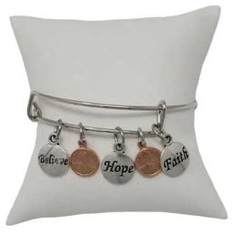 Believe, Hope, Faith Mini Penny Bracelet