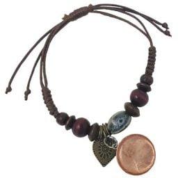 Beaded Penny Heart ADJUSTABLE Bracelet