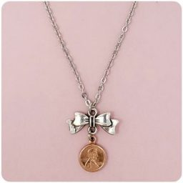 SWEETPEAs Copper Penny Bow Necklace