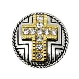 Raised Crystal Cross Treasure Snap