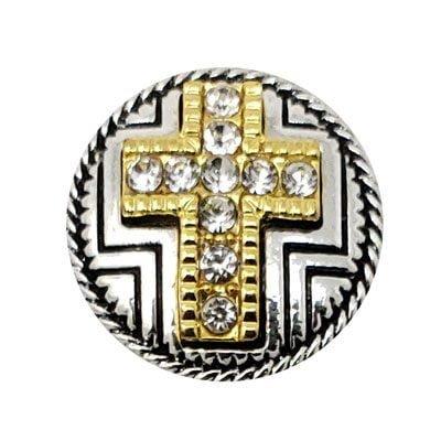 Raised Crystal Cross Treasure Snap