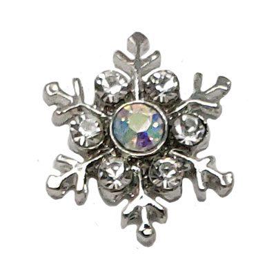 Opalescent Snowflake Treasure Snap