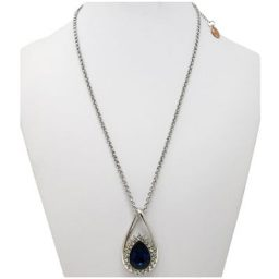 Forever Sapphire Silver-Tone SNAP Necklace