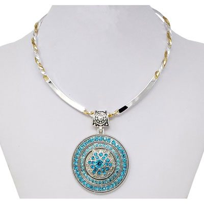 Beauty's Turquoise Slider Pendant Snap Necklace