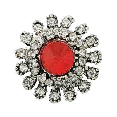 Crystal Studded Red Treasure Snap