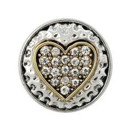 Hammered Metal Heart Treasure Snap