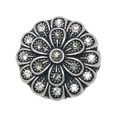 Blackened Metal Flower Treasure Snap