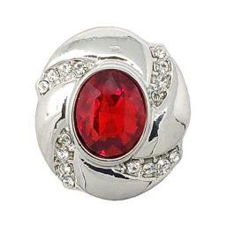 Red Tumbled Crystal Treasure Snap