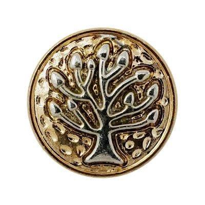 Gold-Tone Tree of Life Treasure Snap