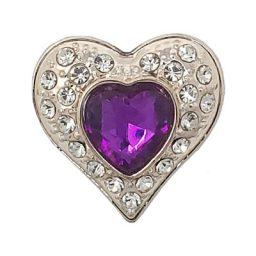Fuchsia Crystal Heart Treasure Snap