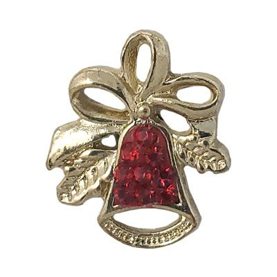 Gold and Red Christmas Bell Treasure Snap