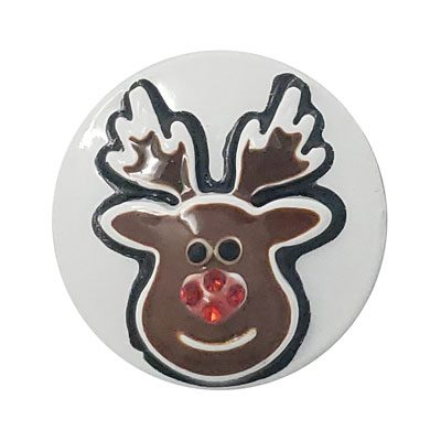 Enamel Rudolph Treasure Snap