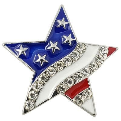 Crystal Stars and Stripes Treasure Snap