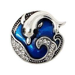 Deep Turquoise Dolphin Treasure Snap