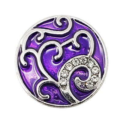 Purple Crystal Swirl Treasure Snap