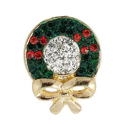 Christmas Holly Wreath Treasure Snap