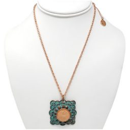 Copper Patina Rose Gold-Tone Penny Necklace