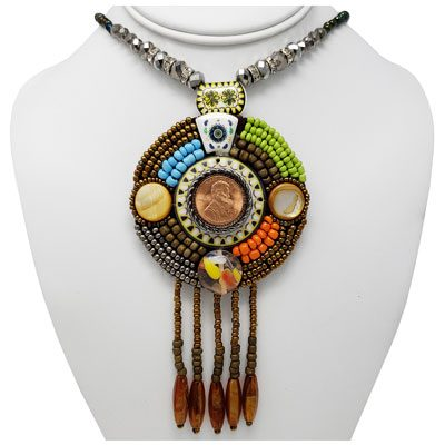 Boho Chic Multi-Colored Penny Necklace
