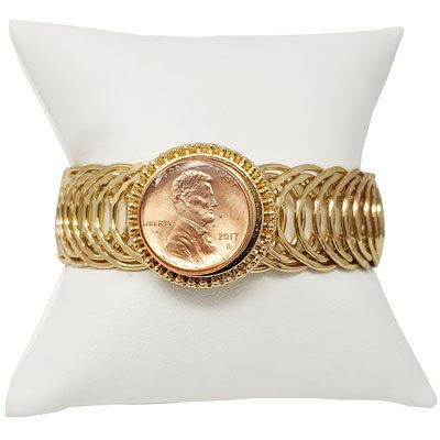 Gold-Tone Spring Snap Bracelet